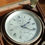 Mahogany-boxed chronometer