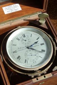 Mahogany-boxed chronometer